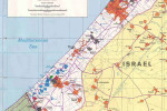 Gaza Strip with high support for Hamas. Map - Source: http://www.lib.utexas.edu