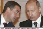 Dmitry Medvedev falls within the immediate area of Vladimir Putin. Source: http://www.telegraph.co.uk