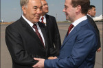 Nursultan Nazarbayev welcomes Dmitry Medvedev during his visit to Kazakhstan
