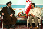 President of Iran Mahmoud Ahmadinejad with Hezbollah leader Hassan Nasrallah