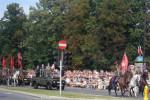 Lech Kaszinski opening military parade in Warsaw in 1989